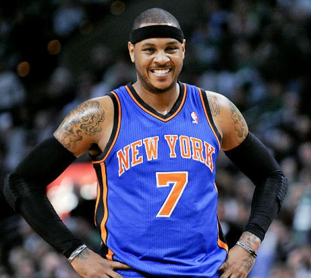carmelo anthony blue