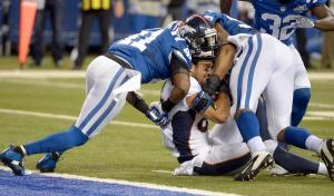 Denver Broncos versus the Indianapolis Colts